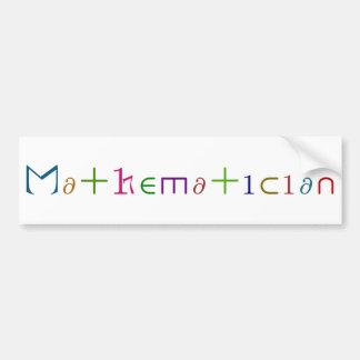 Mathematician Bumper Sticker