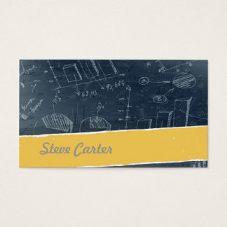 Mathematician Business Card / Formula / Science