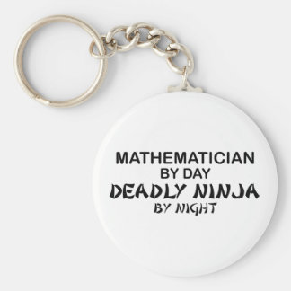 Mathematician Deadly Ninja by Night Basic Round Button Keychain