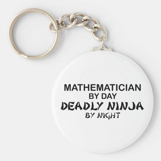 Mathematician Deadly Ninja by Night Keychain