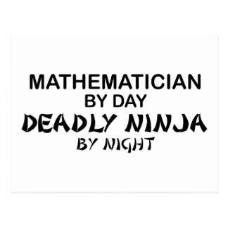 Mathematician Deadly Ninja by Night Post Card