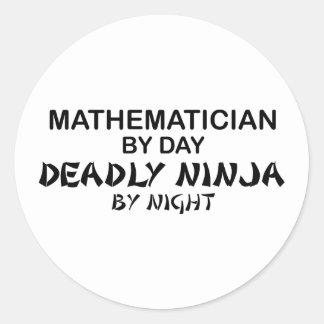 Mathematician Deadly Ninja by Night Classic Round Sticker