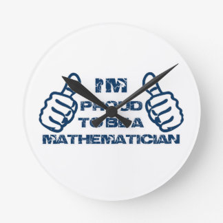 Mathematician Design Round Clock