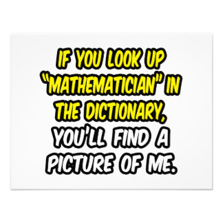 Mathematician In Dictionary...My Picture Invitation