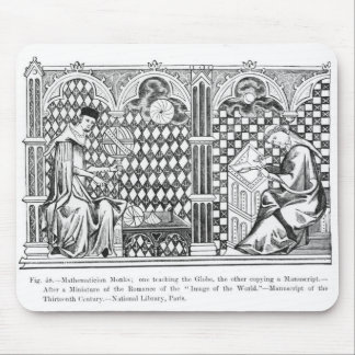 Mathematician Monks: one teaching the Globe Mouse Pad