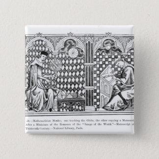 Mathematician Monks: one teaching the Globe Pinback Button