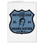 Mathematician Obama Nation Greeting Card