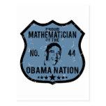 Mathematician Obama Nation Postcard