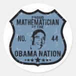 Mathematician Obama Nation Round Stickers
