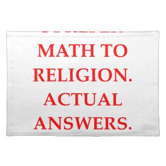 mathematician cloth placemat