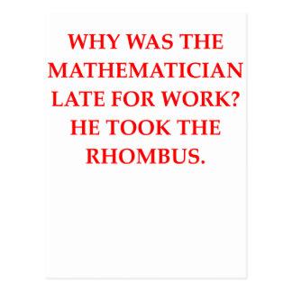 mathematician postcard