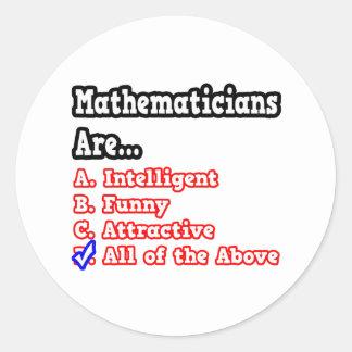 Mathematician Quiz...Joke Stickers