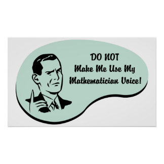 Mathematician Voice Poster