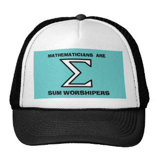 Mathematicians are Sum Worshipers Hats