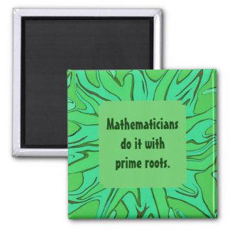 mathematicians do it joke 2 inch square magnet