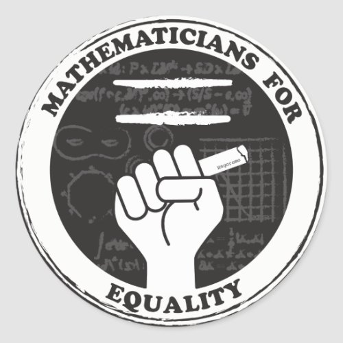 Mathematicians for Equality stickers