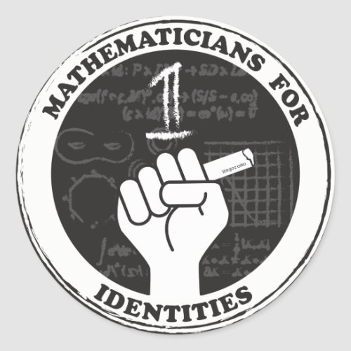 Mathematicians for Identities stickers