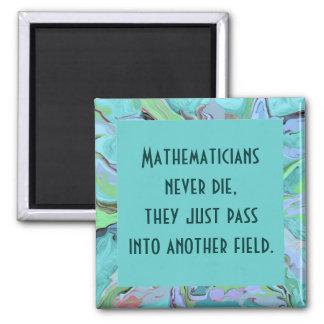 Mathematicians joke 2 inch square magnet
