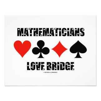 Mathematicians Love Bridge (Love Letters Font) Custom Announcement