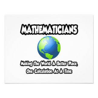 Mathematicians...Making the World a Better Place Custom Invitation