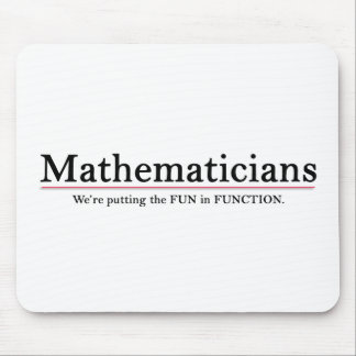 Mathematicians Putting the Fun in Function Mouse Pad