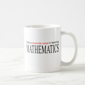 Mathematics _ absolute value in learning coffee mug