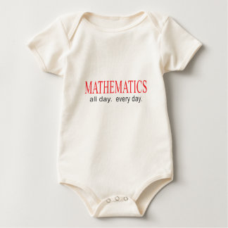 Mathematics _ all day _ every day. baby bodysuit
