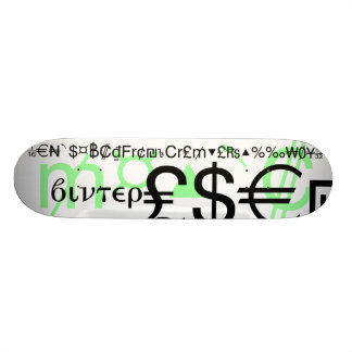 Mathematics and Dollar Signs by WinterBoards Skateboards