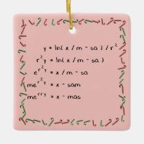 Mathematics Christmas Wish Ceramic Ornament