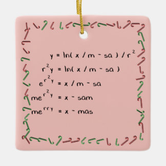 Mathematics Christmas Wish Ceramic Ornament