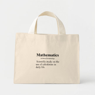 Mathematics Definition Tote Bags