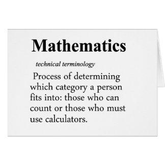 Mathematics Definition Card