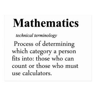 Mathematics Definition Postcard