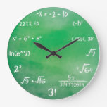 Mathematics Equation Quiz For Geeks Large Clock at Zazzle