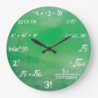 Mathematics Equation Quiz for Geeks Large Clock