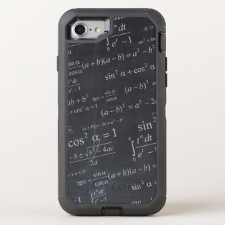 Mathematics Equations on Chalkboard Funny Geeky OtterBox Defender iPhone 7 Case
