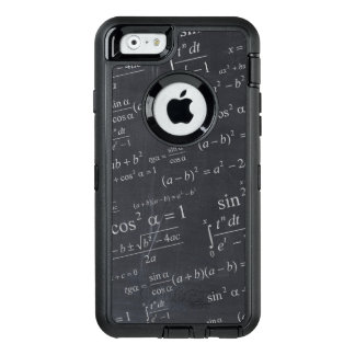 Mathematics Equations on Chalkboard Funny Geeky OtterBox Defender iPhone Case