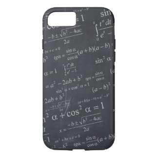 Mathematics Formulas on Chalkboard - Funny & Cool iPhone 7 Case