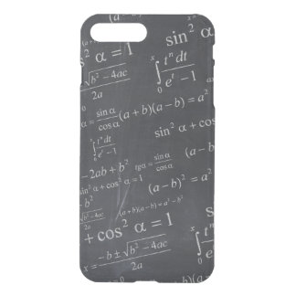Mathematics Formulas on Chalkboard - Funny Unique iPhone 7 Plus Case