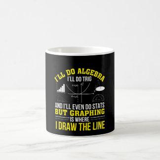 Mathematics Graphing Is Where Draw Line Coffee Mug