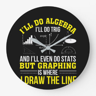 Mathematics Graphing Is Where Draw Line Large Clock