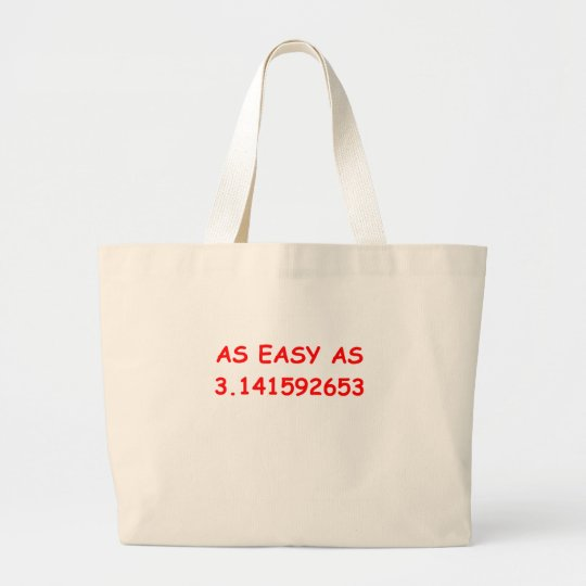 mathematics large tote bag