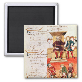 Mathematics Lesson, from a mathematical treatise 2 Inch Square Magnet