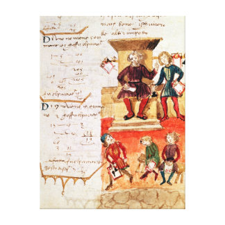 Mathematics Lesson, from a mathematical treatise Canvas Print
