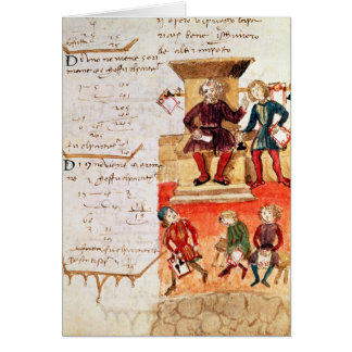 Mathematics Lesson, from a mathematical treatise Card