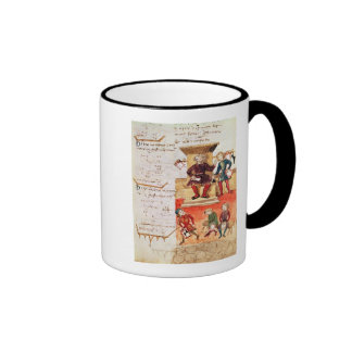 Mathematics Lesson, from a mathematical treatise Ringer Coffee Mug