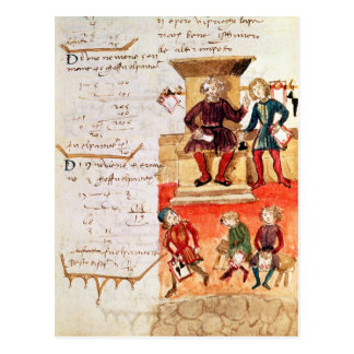 Mathematics Lesson, from a mathematical treatise Postcard