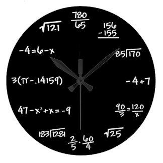Mathematics Math Chalkboard Clock