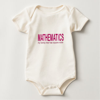 Mathematics _ my family tree has square roots baby bodysuit