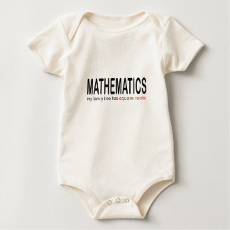 Mathematics _ my family tree has square roots_blk baby bodysuit